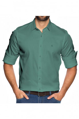 Camisa Slim Fundamental Verde