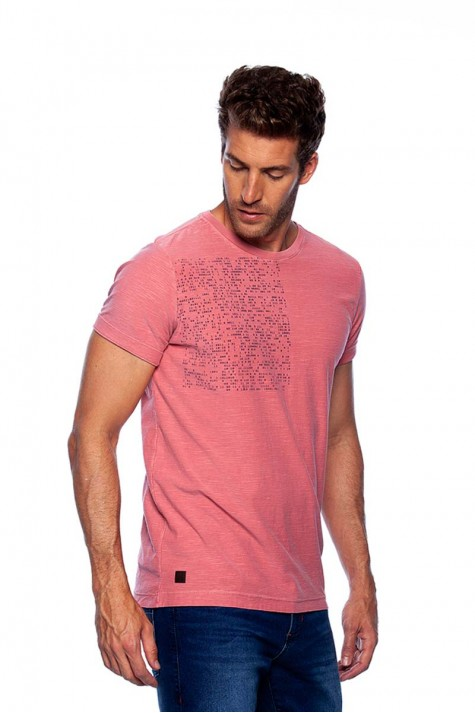 Camiseta Careca Flame Estampada Coral
