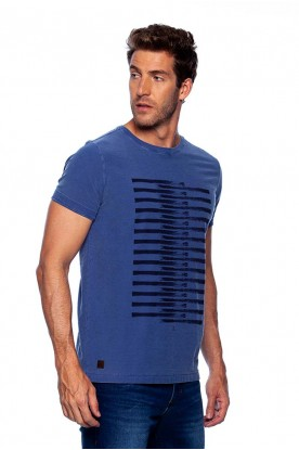 Camiseta Casual Careca Flame Azul