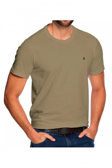 Camiseta Casual Fundamental Básica Bege