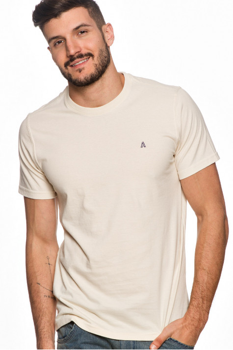 Camiseta Casual Básica Bege Fundamental
