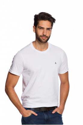 Camiseta Casual Branca Básica Fundamental