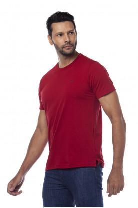 Camiseta Casual Fundamental Básica Vermelha
