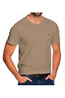Camiseta Casual Bege Areia