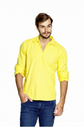 Bata Casual Masculina Amarela Claro