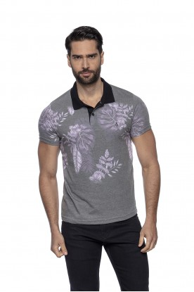 Polo Casual Sublimada Floral