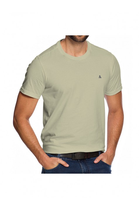 Camiseta Casual Fundamental Bege Mandi