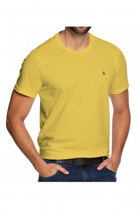 Camiseta Casual Fundamental Amarelo Banana