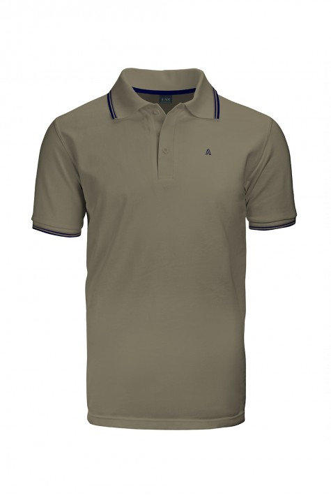 Polo Masculina Casual Com Friso Barbante